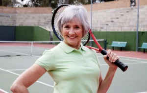Healthy Fit older woman
